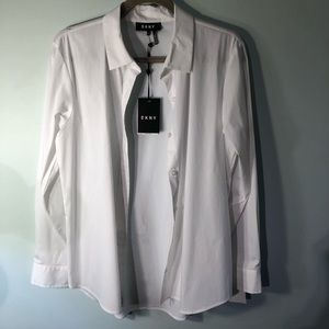 DNKY Long Sleeve Classic white shirt  M  NWT